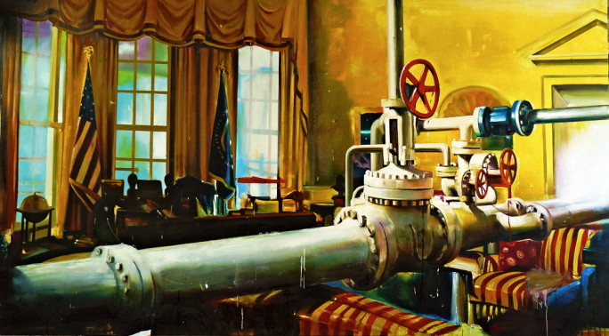 18.  Oval office pipe line