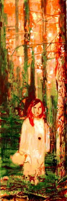 girl on the forest